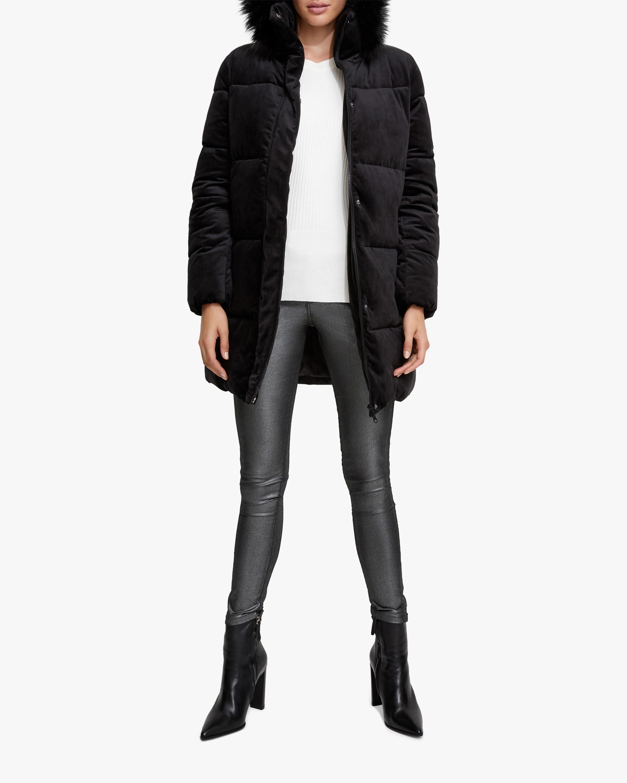 Unreal Fur Black Star Puffer Coat 2