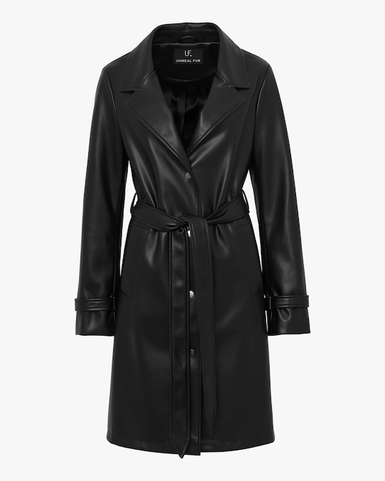 Unreal Fur Heroes Faux-Leather Coat 0