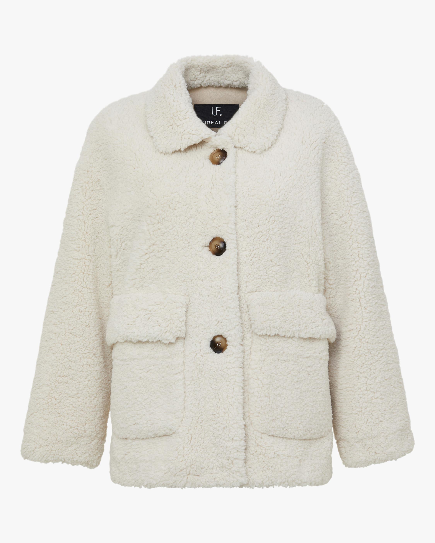 Unreal Fur Seashell Faux Shearling Jacket 1