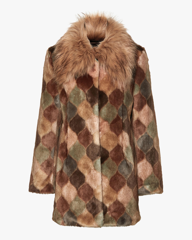 Unreal Fur Casablanca Faux Fur Coat 1