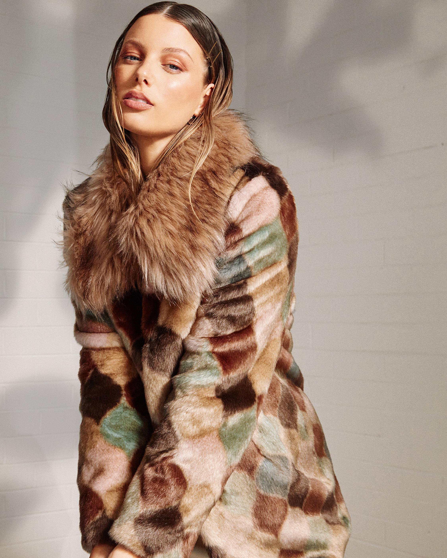 Unreal Fur Casablanca Faux Fur Coat 2