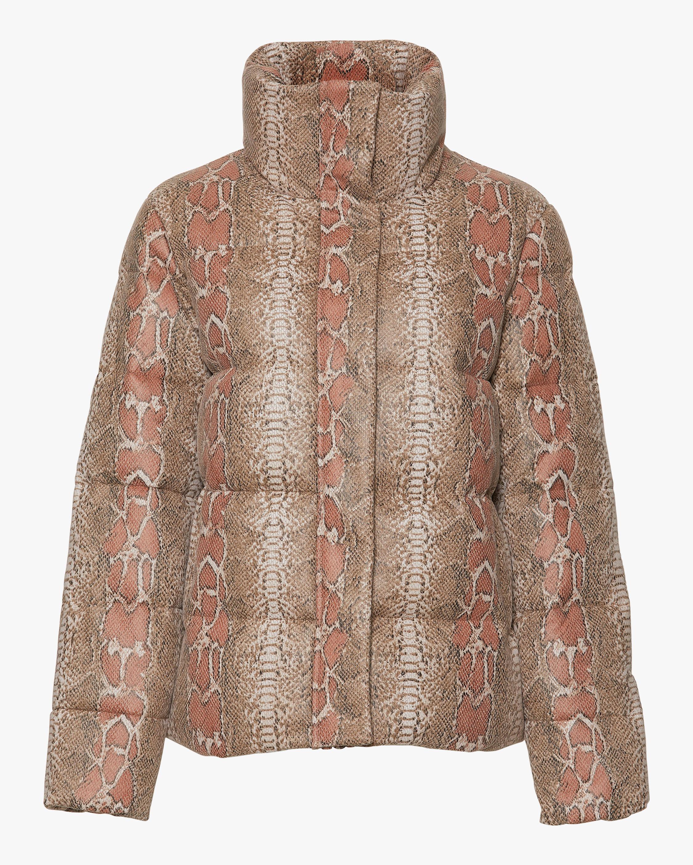 Unreal Fur Python Puffer Jacket 1