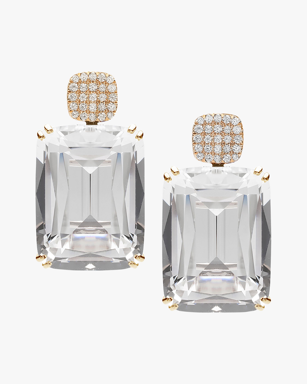Goshwara Gossip Crystal Cushion Earrings 0