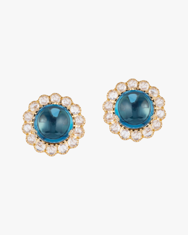 Goshwara Rock N' Roll Topaz & Diamond Stud Earrings 0