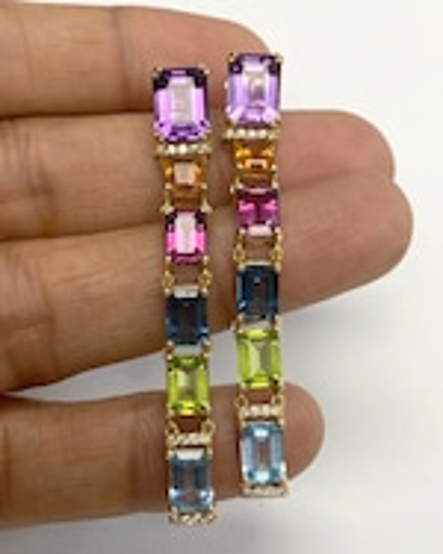 Goshwara Gossip Gemstone Drop Earrings 1