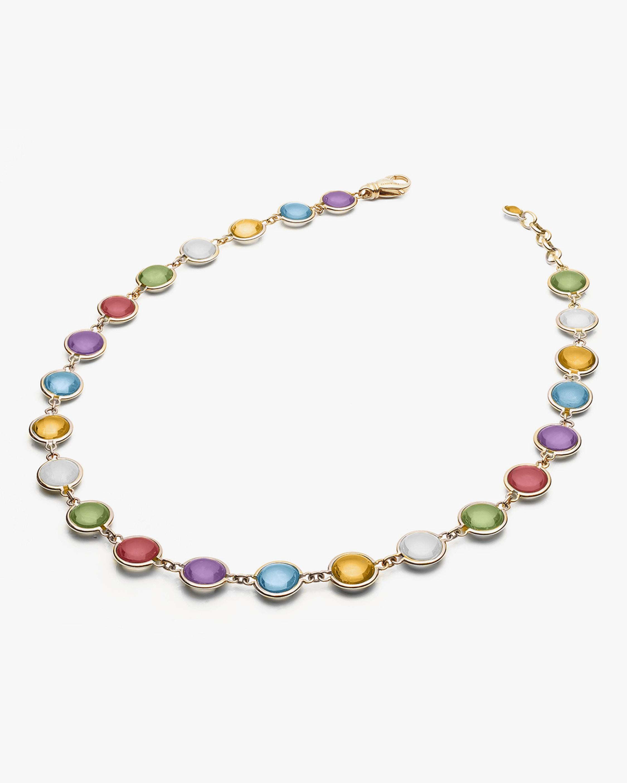 Goshwara Mischief Gemstone Disc Station Necklace 0