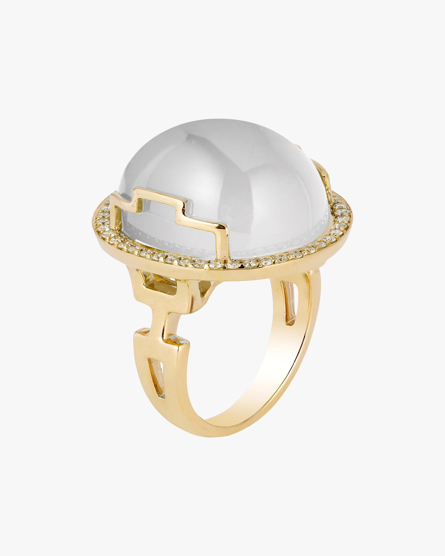 Goshwara Rock N' Roll Moon Quartz & Diamond Ring 1