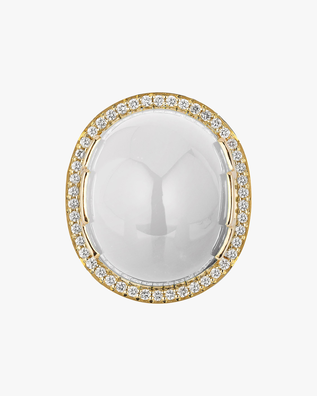 Goshwara Rock N' Roll Moon Quartz & Diamond Ring 2