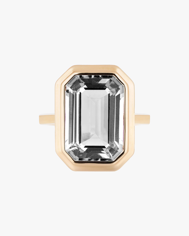 Goshwara Manhattan Emerald-Cut Crystal Ring 1
