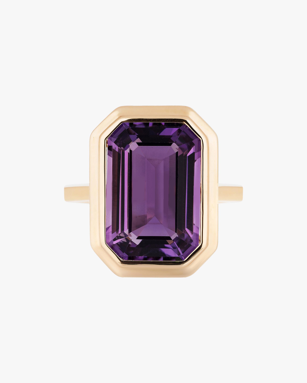 Goshwara Manhattan Emerald-Cut Amethyst Ring 1