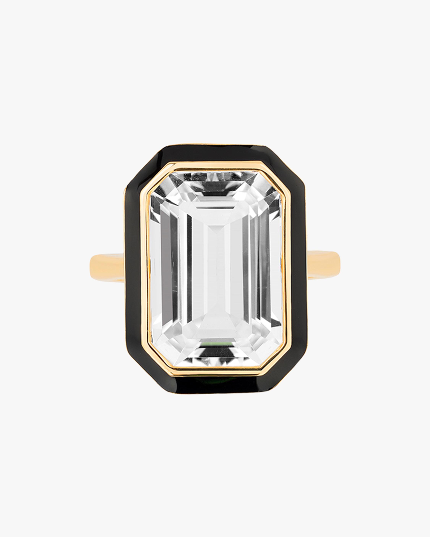 Goshwara Queen Emerald-Cut Crystal Ring 1
