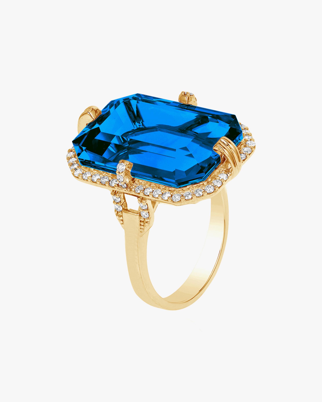 Goshwara Gossip Emerald-Cut Blue Topaz Ring 0