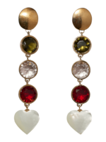 Lizzie Fortunato Nonna Heart Earrings 0