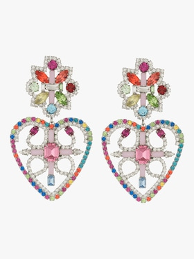 Camellias Rainbow Statement Earrings