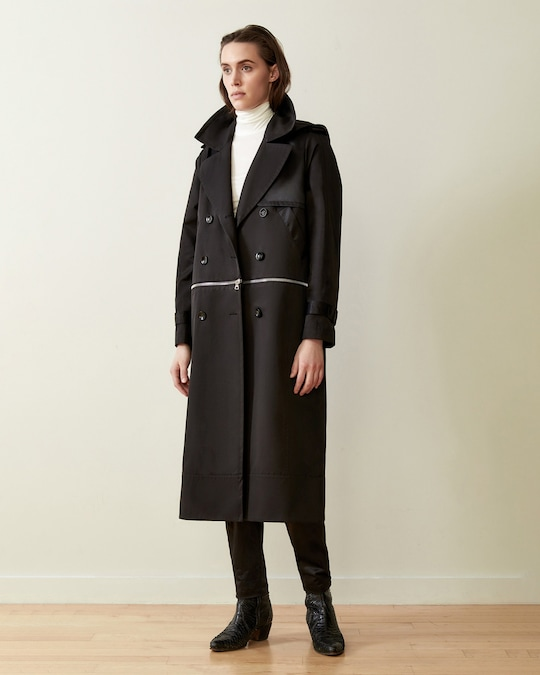 CAALO Sustainable Convertible Hooded Trench 1