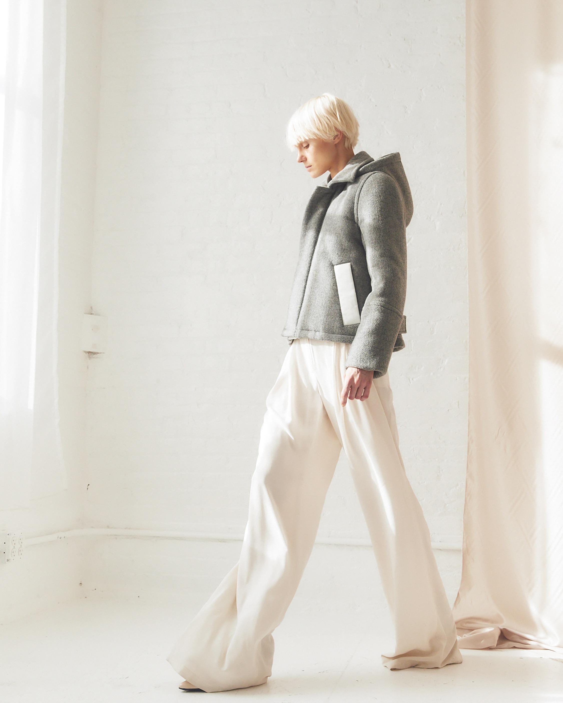 CAALO Sustainable Down Wool Short Coat 2