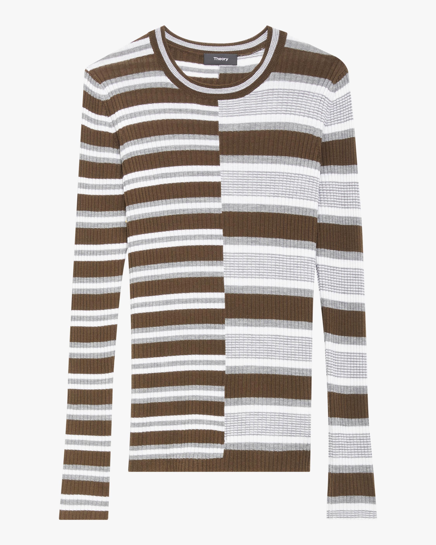 Theory Multi-Stripe Wool Sweater 1