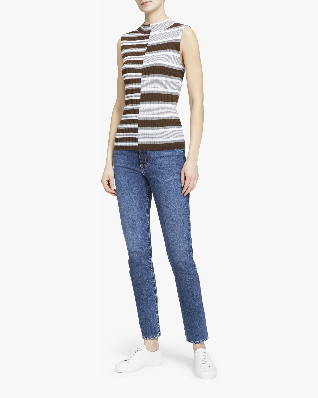 Theory Multi-Stripe Sleeveless Wool Sweater 2