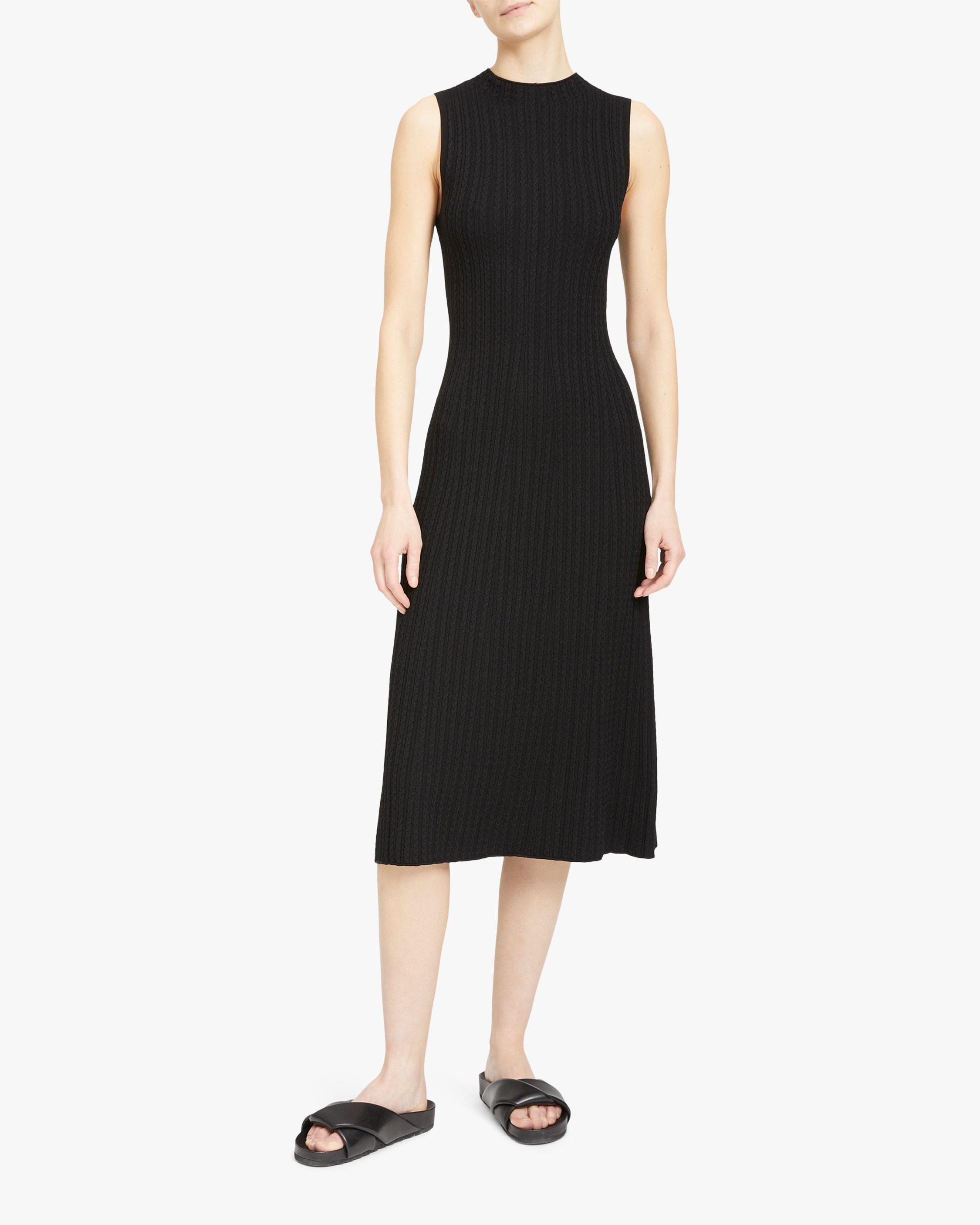 Theory Bering Cable-Ribbed Dress 2