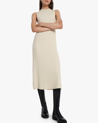 Theory Bering Cable-Ribbed Dress 1