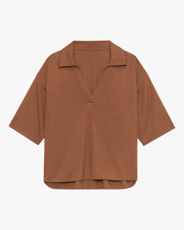 Theory Cropped Polo Shirt 1