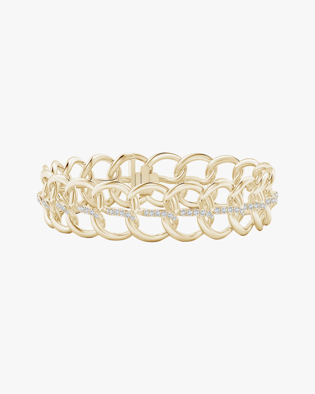 Natori Yin-Yang Diamond Shangri-La Curb Chain Bracelet 1