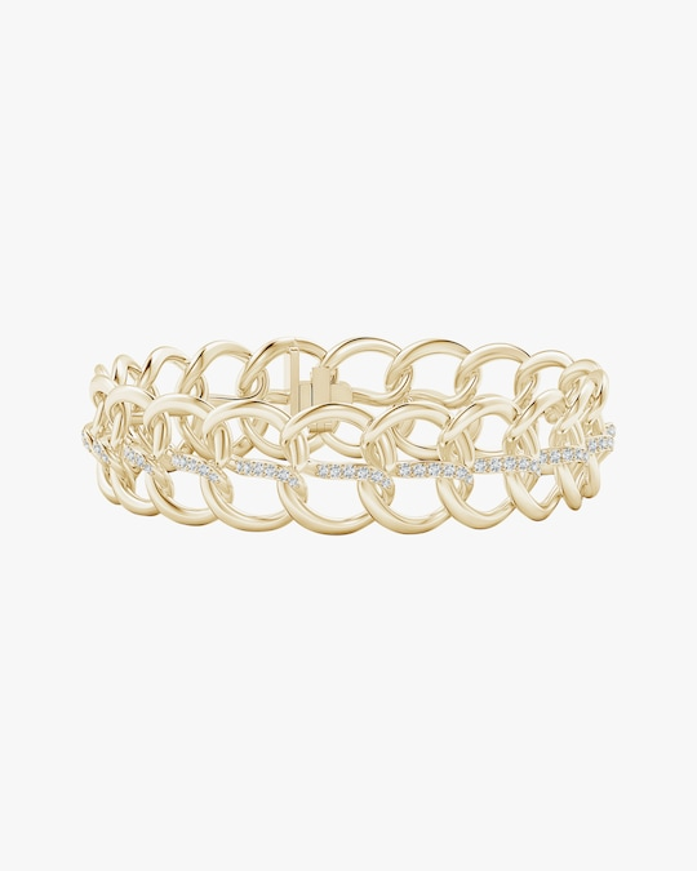 Natori Yin-Yang Diamond Shangri-La Curb Chain Bracelet 0
