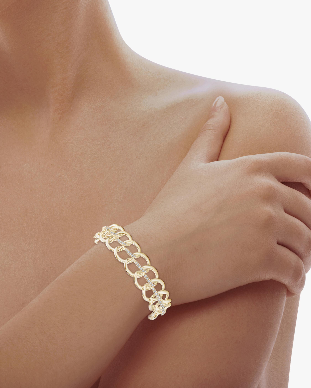 Natori Yin-Yang Diamond Shangri-La Curb Chain Bracelet 2