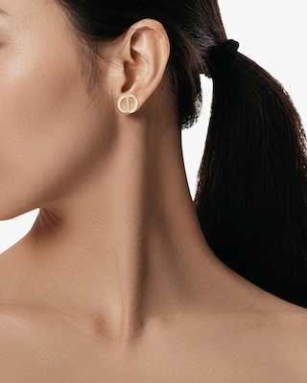 Natori Yin-Yang Diamond Shangri-La Stud Earrings 2