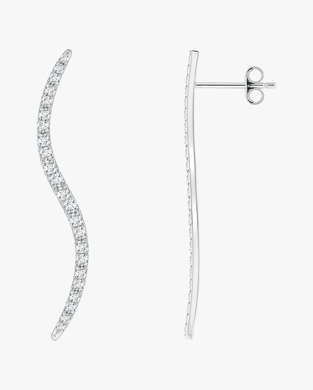 Natori Brushstroke Diamond Shangri-La Stud Earrings 0