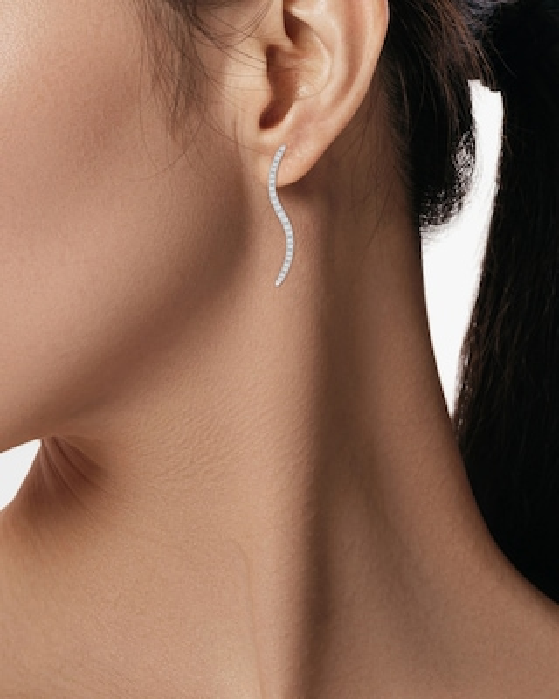 Natori Brushstroke Diamond Shangri-La Stud Earrings 2