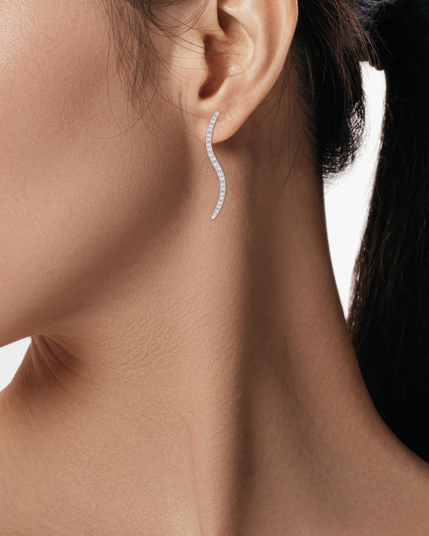 Natori Brushstroke Diamond Shangri-La Stud Earrings 1