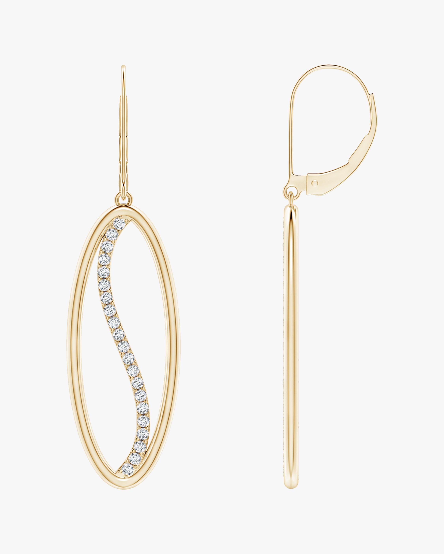 Elliptical Yin-Yang Diamond Shangri-La Earrings