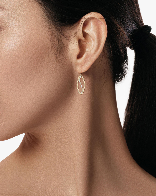 Natori Elliptical Yin-Yang Diamond Shangri-La Earrings 2