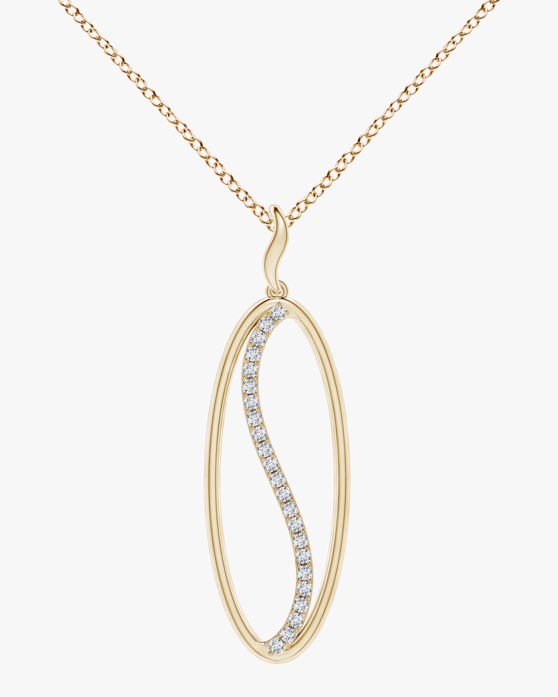 Natori Elliptical Yin-Yang Diamond Shangri-La Pendant Necklace 0