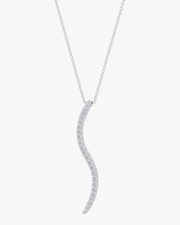 Natori Brushstroke Diamond Shangri-La Pendant Necklace 0