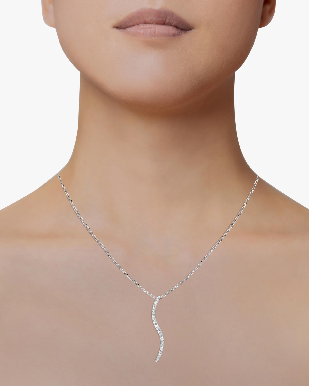 Natori Brushstroke Diamond Shangri-La Pendant Necklace 1
