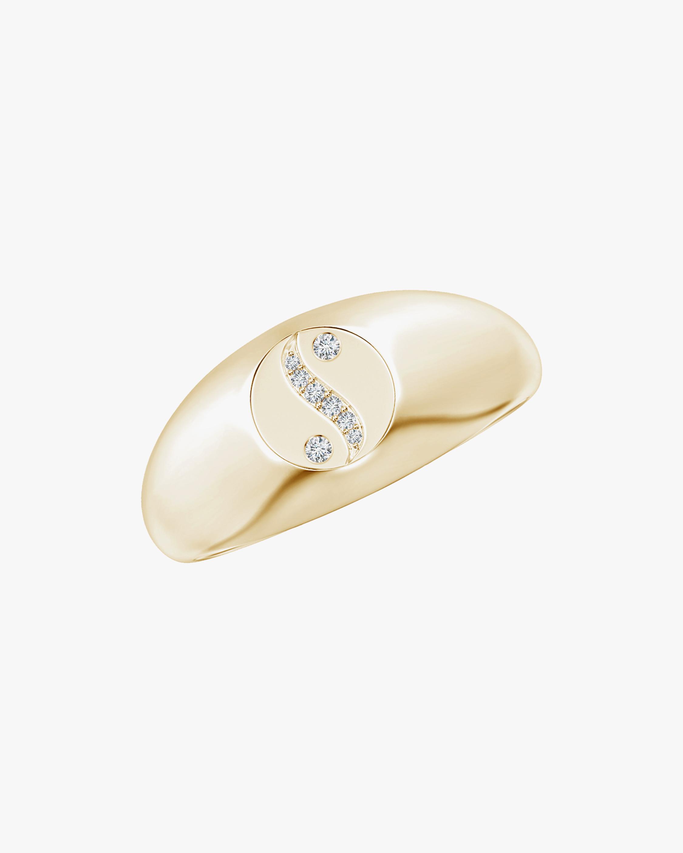 Natori Shangri-La Yin-Yang Diamond Signet Ring 1