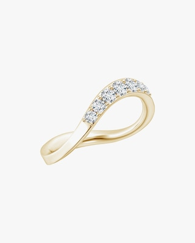 Natori Shangri-La Brushstroke Diamond Stacking Ring 1
