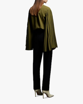 Jason Wu Collection Pleated-Sleeve Top 2