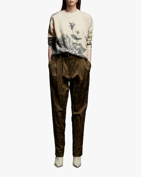 Jason Wu Collection Crinkled Belted Pants 0