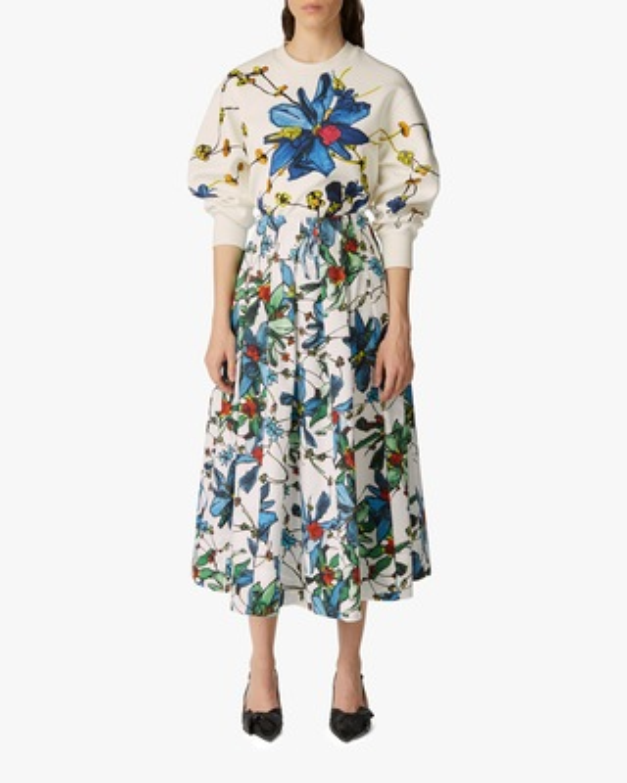 Jason Wu Collection Floral-Emboirdered Sweatshirt 2