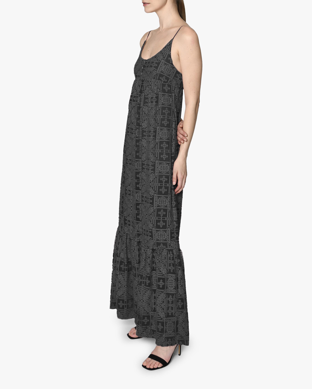 Nicole Miller Embroidered Silk Maxi Dress 2