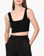 Nicole Miller Ribbed-Knit Bra Top 3