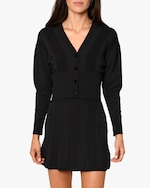 Nicole Miller Ribbed-Knit Cardigan 0