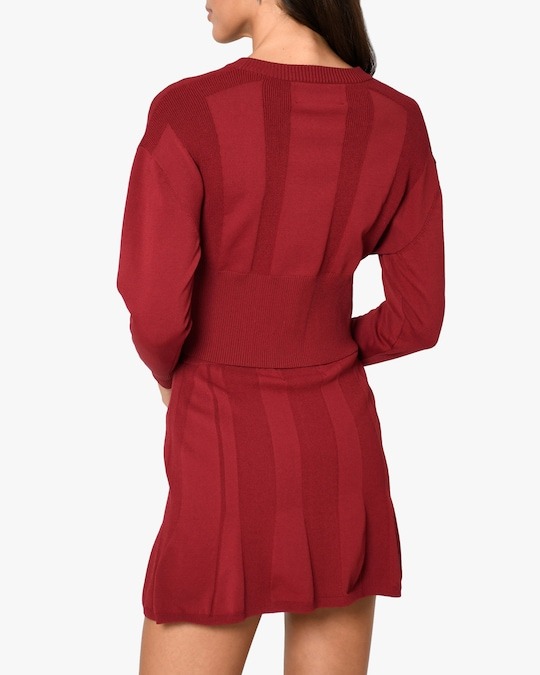 Nicole Miller Ribbed-Knit Cardigan 1