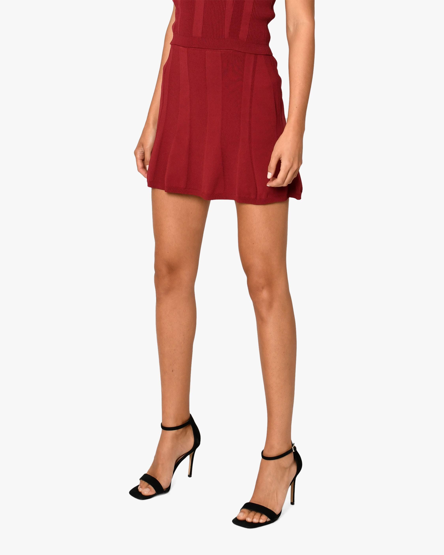Nicole Miller Ribbed-Knit Mini Skirt 0