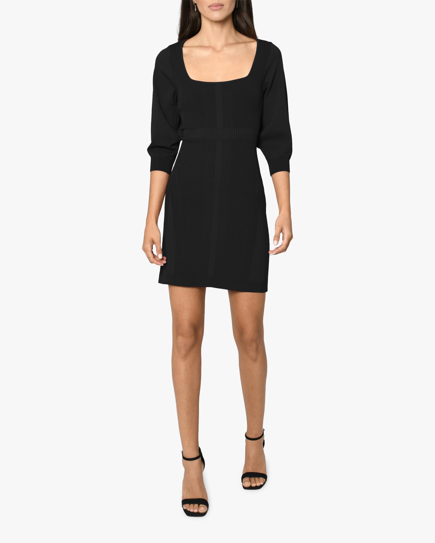 Nicole Miller Ribbed-Knit Mini Dress 0