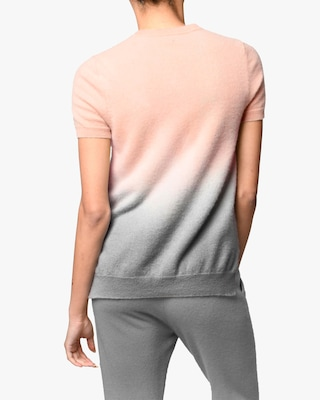 Nicole Miller Dip-Dyed Cashmere Sweater Tee 2