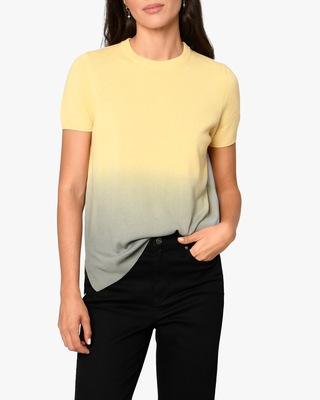 Nicole Miller Dip-Dyed Cashmere Sweater Tee 1